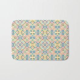 Geometric line seamless pattern Bath Mat