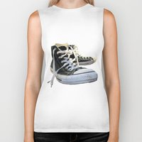 converse Biker Tanks featuring Converse by Jake Fishkind