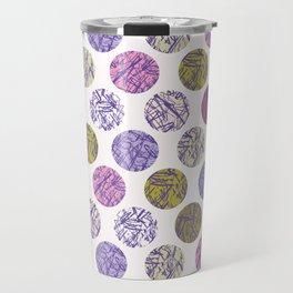 Textured Polka Dot Hand Drawn Ink Marks Circles Travel Mug