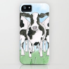 A Field of Cows iPhone Case