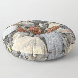 River Stone Tiny Cones Floor Pillow