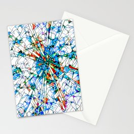 Glass stain mosaic 2 star - by Brian Vegas Stationery Cards