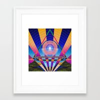 stargate Framed Art Prints featuring STARGATE II by Adam Yasmin