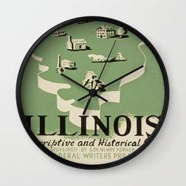 Vintage poster - Illinois Wall Clock