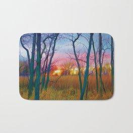 Wetland Sunset Bath Mat