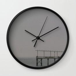 Fishing Pier, D Wall Clock