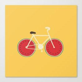 watermelon bike Canvas Print