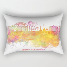 Las Vegas Nevada Skyline  Rectangular Pillow