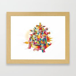 Firespirit in a box Framed Art Print