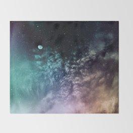 Polychrome Moon Throw Blanket