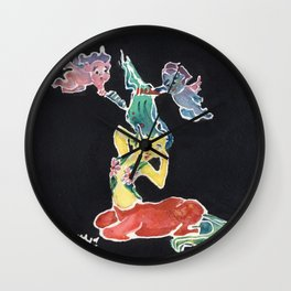 Centaurette with Cherub Hairdressers Wall Clock