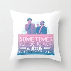 Ball A Lot Throw Pillow
