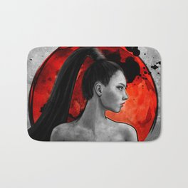 Red Warrior Bath Mat