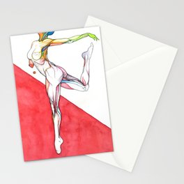 Paradigm flux, nude female dancer, NYC artist Stationery Cards