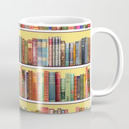 Christmas books antique vintage library Coffee Mug