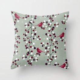 Delicate winter Throw Pillow