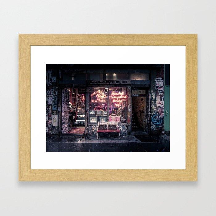Underground Boxing Club NYC Framed Art Print