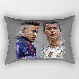 neymar jr and cristiano ronaldo Rectangular Pillow