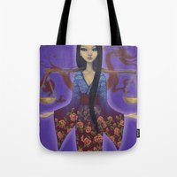 libra Tote Bags featuring Libra by Artist Andrea
