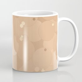 Toasted Almond Bubble Dot Color Accent Coffee Mug