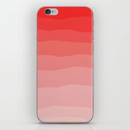 Red Strawberries and Cream Ombre iPhone Skin