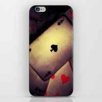 poker iPhone & iPod Skins featuring Poker  by    Amy Anderson