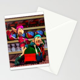 While Santa's Away... Stationery Cards