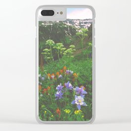 Wildflowers, Yankee Boy Basin above Ouray, Colorado Clear iPhone Case