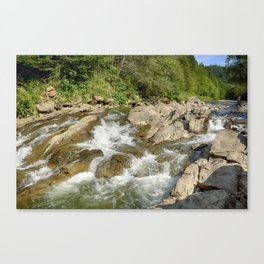 Blue whirlpools waterfall Canvas Print