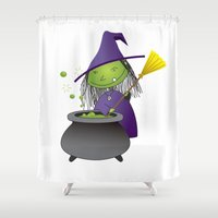 witch Shower Curtains featuring Witch by Primal Dream