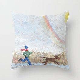 Snowbow Throw Pillow