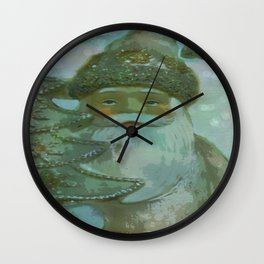 Vintage Santa - Painterly Wall Clock
