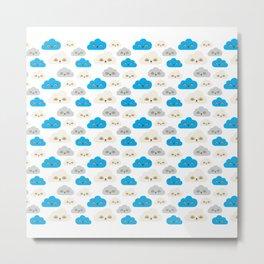 Rainbow Power Clouds Metal Print