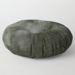 Pacific Northwest Foggy Forest Floor Pillow