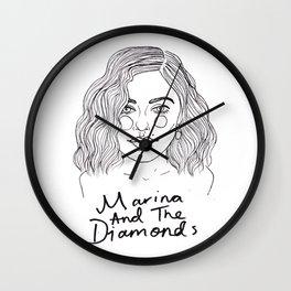 Marina Diamandis Wall Clock