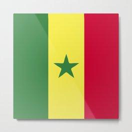 Senegal flag emblem Metal Print