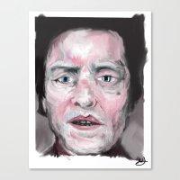 christopher walken Canvas Prints featuring Christopher Walken by Be Sound Art