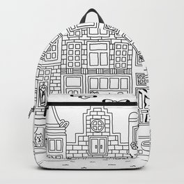 Amsterdam Line Art Backpack