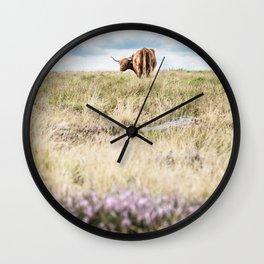 Highland Heather Wall Clock