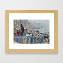 Varanasi Laundry Framed Art Print