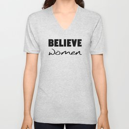 Believe Women Unisex V-Neck