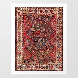 Qashqa'i Fars Southwest Persian Nomad Rug Print Art Print