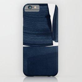 Minimalist Painting Blue I, Navy Decor iPhone Case