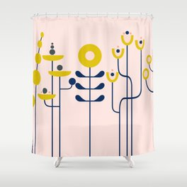 very graphis flower - rosé Shower Curtain