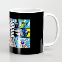 gta Mugs featuring Grand Theft Autobot (GTA G1 Transformers) by Demonlinks