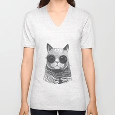 cool cat Unisex V-Neck