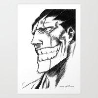 bleach Art Prints featuring Bleach: Kenpachi  by nightfrost4