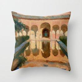 Hall of the Ambassadors, Alhambra, Granada by Joaquín Sorolla y Bastida  Throw Pillow