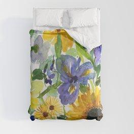 daffodil, iris and sunflower Comforters