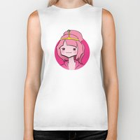 bubblegum Biker Tanks featuring Bubblegum by Shay Bromund